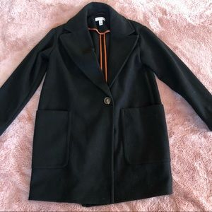 Topshop sz 0 cocoon style black coat